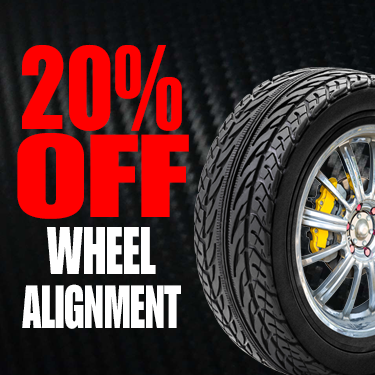 20% OFF WHEEL ALIGNMENT